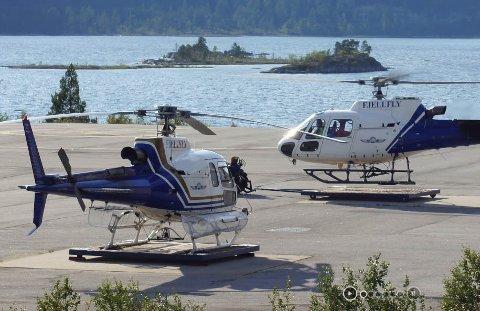 FJELLFLY AS: Fjellfly AS har base på Hovden i Bykle og Kjevik i Kristiansand. Nå har de fått tillatelse til å sette opp et værkamera på Hardangervidda, men selskapet har ikke bestemt seg for om de faktisk vil gjøre det.