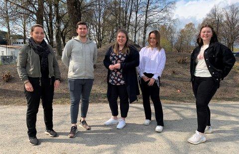 GOD RESPONS: Henriette Ditlefsen, Jacob Storemyr, Anniken Nordnes, Maria Simensen og Tordis-Maria Bakken Egeland får som regel god respons på jobb.