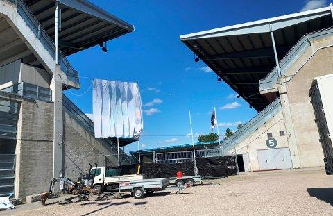 EN MULIGHET: I dette hjørnet på Odd stadion/Skagerak arena ønsker flere at det skal bli turnhall.