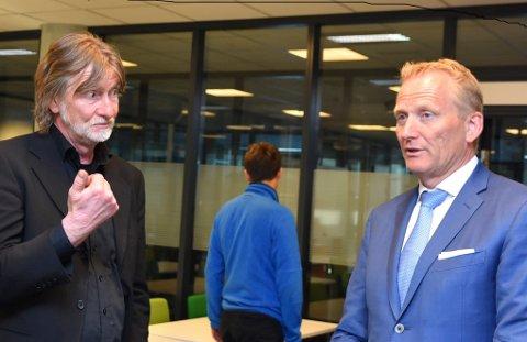 SAMSTEMT: Frode Granlund, Notodden Senterparti og  Odd Hansen samstemte om målsettingen for flyplassen. (Arkivfoto)