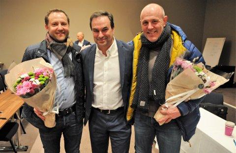 NYE STYREMEDLEMMER: (f.v.) Thomas Steen-Hansen, Torleiv Sandvik og Hans Petter Olsen går alle inn i styret. Sandvik er ny styreleder.