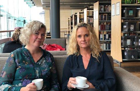 GIRLPOWER: Suzy Haugan (til venstre) og Ellen Eriksen representerer to forskjellige partier, men en ting er de helt enige om: Nå er det valg og god mulighet for nye Tønsberg kommune å sikre en bred representasjon av kjønn og alder, også i lederposisjoner.