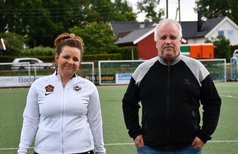 INVITERER: Flints Mona Habbestad (t.v.) og Husøys Jan Egil Levorsen representerer klubbene som avholder minnestunden for Reidar Lindqvist.