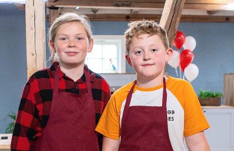 PÅ TV: Emund Bergum Jahr (12) og Kasper Brandshaug (11) fra Raufoss deltar på TV2s «Bakebananas» som kommer på TV2 Sumo fredag