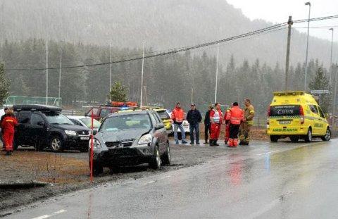 Færre: Det har vorte færre trafikkulykker på vegane i Valdres.