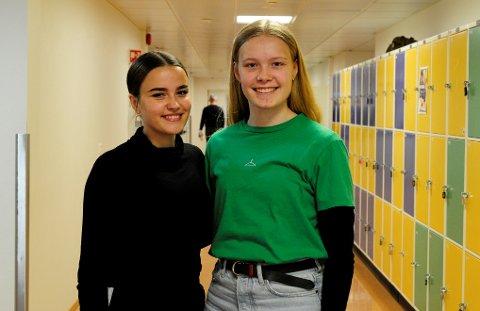 Nestleiar i Natur og Ungdom Valdres, Tuva Aasgard (t.v) og leiar Erika Hoffmann er godt i gang med planlegginga av ny skulestreik for klimaet.