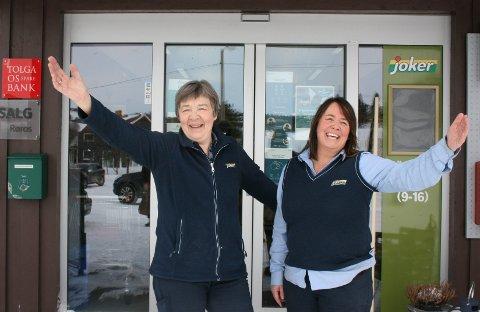 VELKOMMEN: Ingeborg Breen (t.v.) og Trine Berg Lingsell ønsker velkommen til handel i Dalsbygda.