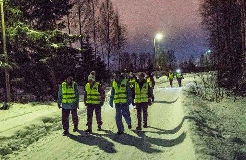 Kløvertur på vei mot Stuene. 5 kilometer ble det på kveldsturen forrige uke.