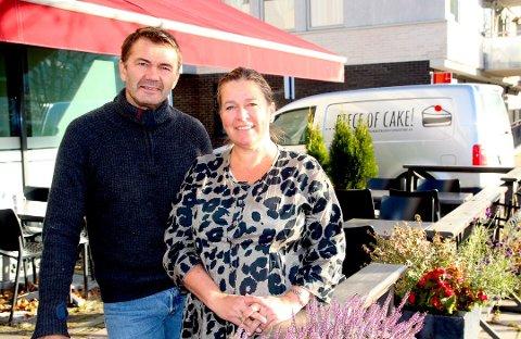 UTVIDER: Tomm Munthe og Nina Triber Munthe satser på å utvide Piece of Cake kjeden med tre nye serveringssteder.