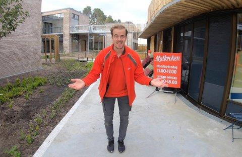 NY BUTIKKSJEF: For halvannen uke siden åpnet Kim Daniel Jonassen sin nye butikk i Strømmehaven i Kristiansand.