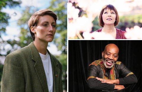 Helene Tungesvik Skogland (t.v.), Mari Skeie Ljones og Kouame Gerard Sereba er tre av de 64 kunstnerne som får stipend for 2021 fra Oslo kommune.