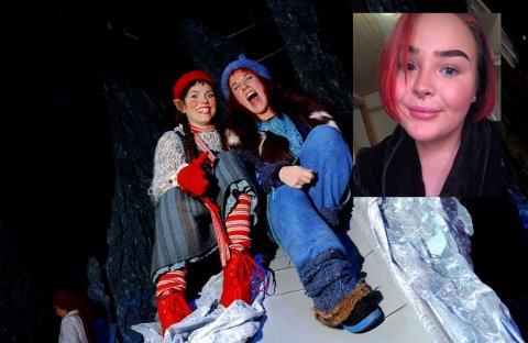 """Bilde fra teaterforestillingene av """"Jul i Blåfjell"""" fra 2002. Karoline (21) håper den populære julekalenderen er tilbake på TV-skjermen snart."""