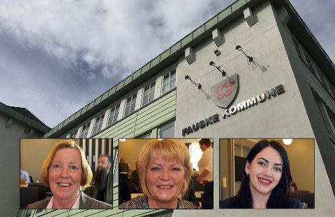 Markeringen av kvinnedagen 8. mars i Fauske ser ut til å skape grobunn for konflikt. Her representert ved Anne Stenhammer (SV), Siv Anita Johnsen Brekke (H) og Kassandra Petsa (Frp).
