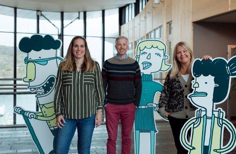 Siri Vasshaug fra Smartere Transport Bodø, Rune Eiterjord fra Nordland fylkeskommune og Marianne Bahr Simonsen i Smart Bodø.