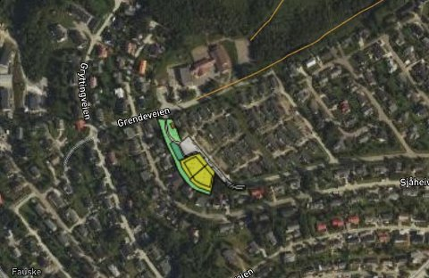 Planoppstart: Det merkede området er der det er satt i gang arbeid med regulering for flere nye boenheter. Området ligger sentralt i et boligfelt.