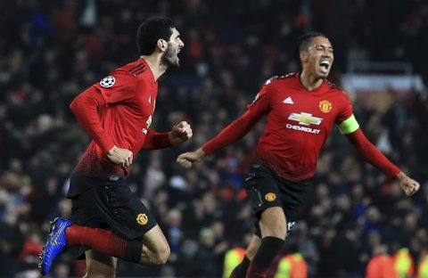 Fellaini scoret et meget viktig seiersmål i uken mot Young Boys. Hvordan presterer United mot Southampton denne helgen?   (AP Photo/Jon Super)