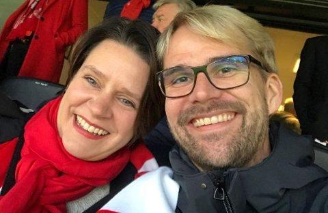 Marte Mjøs Persen og Roger Valhammer utkjemper nå en durabelig kamp om å bli Aps førstekandidat i Bergen.