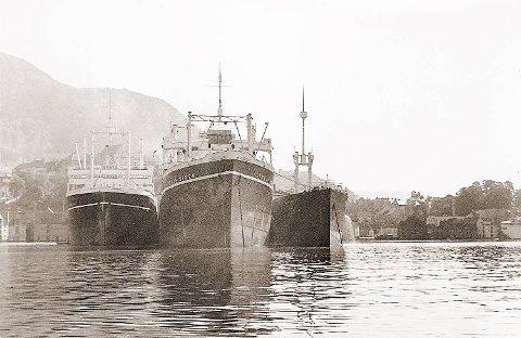 Dette er hvalkokeriet «Trygve Viken» mens det fortsatt lå i Skuteviken. Det var dette Sigfred Bødtker fra Absalon Beyers gate seilte ut med i 1939.