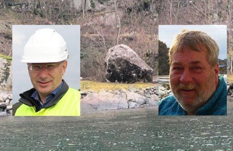 ANMELDT: Rekefjord Stone, her ved daglig leder Egil Solheim, er blitt anmeldt av velforeninga i Rekefjord. Styreleder i velforeninga, Knut Tore Larsen, sier anmeldelsen har bakgrunn i et ønske om å sørge for at hendelser knyttet sprengning blir belyst fra naboenes side.