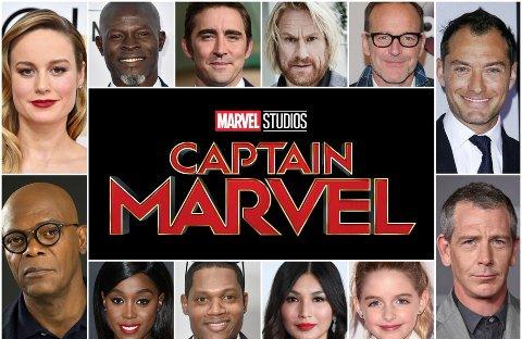 Superstjerner som Samuel L. Jackson, Jude Law og Annette Benning spiller i storfilmen «Captain Marvel». Rune Temte (nr. fire fra venstre øverst) fra Solbergelva er også med i filmen.