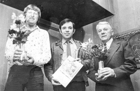 Ivrige turorienterere: Mange er bitt av turorienteringsbasillen, og i 1977 var det disse som hadde tatt flest poster. Fra venstre Knut Olav Bakkene, Kjell Amundsen og Harald Loe.foto: privat