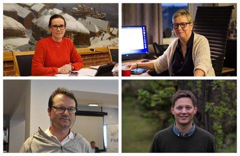 ORDFØRERKVARTETT: Marianne Sivertsen Næss (Ap), Wenche Pedersen (Ap), Jan Olsen (SV) og Sigurd Rafaelsen (Ap) får sagt sitt.