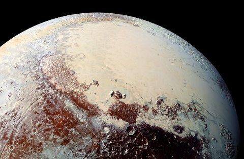 Pluto sitt hjarte, sett frå NASA-sonden New Horizons.