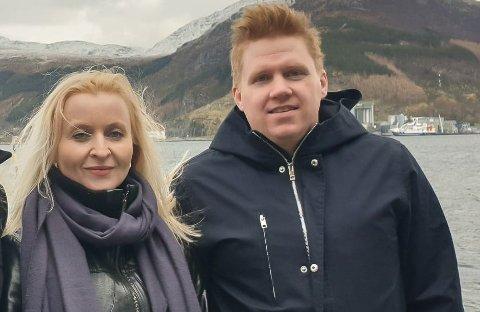 TELJE HER, TELJE DER: Marie Kronen Tveranger og Daniel Henriksson frå Raudt Kinn.