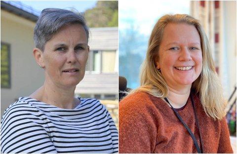 IKKJE FORNØGD: Bente Nygård på Solbakken asylmottak og Ninja Tolo Ness i Kinn utdannings- og ressurssenter KF er skeptiske til sentraliseringa av utlendingskontoret.