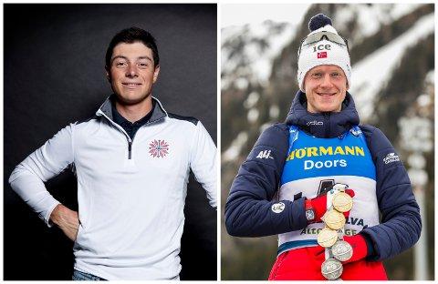 NOMINERTE: Viktor Hovland og Johannes Thingnes Bø er begge nominert til Årets mannlege idretttsprestasjon under Idrettsgallaen 2021.