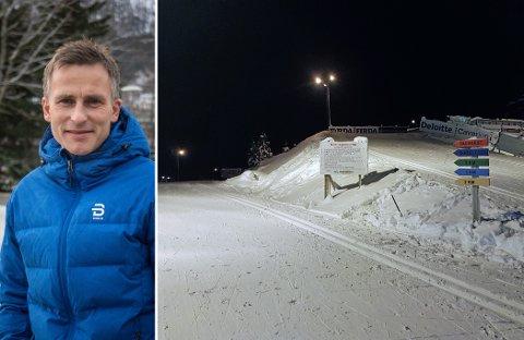 KLARE: Yngve Thorsen og Førde IL Langrenn og Gaular IL har no fått klarsignal for å arrangere Norgescup i langrenn frå 11. februar. Bildet syner løypeforholda tidleg denne månaden.