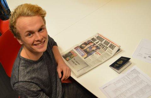 Jor Fergus Dal (19) har for første gang stemt i det amerikanske presidentvalget, men er ikke fornøyd med resultatet.