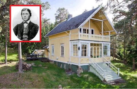 BYGDE FOR «FIFFEN»: Plankebaron Halvor Bjørneby (innfelt bilde) og familien hans fikk Hankø på kjøpet da de overtok herregården Elingaard i 1873. På kort tid bygde de opp et stort antall sommerhus som dette på Hankø.