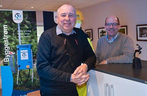 Daglig leder Arild Johnsen (tv) i Nett-tjenester AS er godt vant med  gode resultater og resultatene i 2018 er intet unntak. Her sammen med avdelingsleder Frode Ludvigsen.