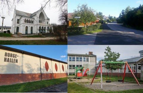 """Hva har Lykkeberg, Jadeveien på Begby, Borgehallen og Gudeberg skole felles? De får alle et vedlikeholdsløft på grunn av de 38 """"koronamillionene"""" som Fredrikstad er blitt tildelt av staten."""