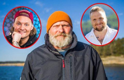 Sten Helberg og miljøstiftelsen Elv og Hav får 40.000 kroner i julegave av Stian Thorbjørnsen og Petter Kristiansen.
