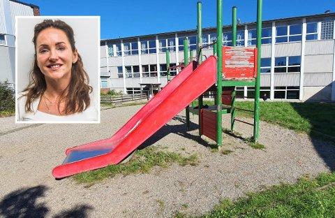 – Fredrikstad kommune, som eier skolen, har verken evne eller vilje til å gjøre noe i påvente av at det skal bygges en ny skole på toppen av den gamle, sier Kine Borge-Skar Arntzen (42) som bestemte seg for å ta saken i egne hender.