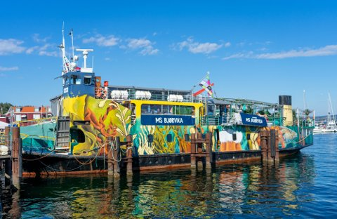Alle som var på konsert på denne båten på Skjærhgalden 3. juli, ble bedt om å teste seg etter et påvist smittetilfelle. Testingen viste at viruset ikke spredte seg blant publikum.