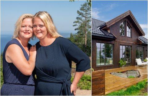 HYTTESALG: Trine og Trude Rishaug Lium fra Toten var med på Sommerhytta. Nå sliter utbyggeren med å få solgt hyttene som var med i rality-serien.