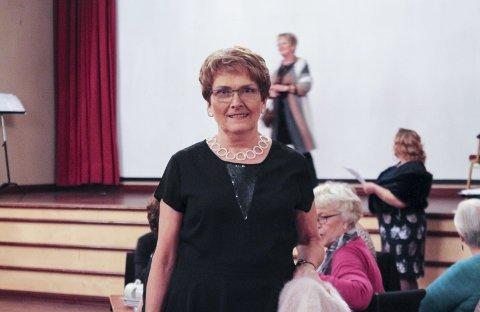 FORNØYD: Grethe Høy var veldig fornøyd med med årets moteoppvisning.alle foto: ida martine skarsfjord