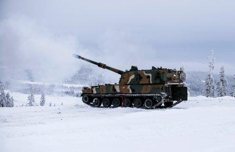 Sør-Koreanske K9 Thunder artillerisystem.