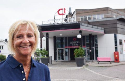 MANGE PLANER: Nye butikker, større lokaler og 20-års jubileum. Mette Kiilerich har mange planer for Sjøsiden.