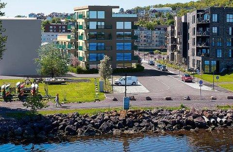 NYTT PROSJEKT: Mandag åpner salget for de nye leiligheten som skal bygges ved Indre havn.