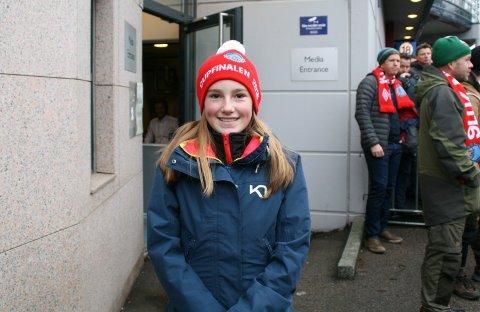Spå: Emma Karlsen (13) tørr ikke spå resultatet.