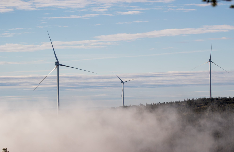 VINDKRAFT: Aksjonister er nå inne i området ved Kjølberget for å være til hinder for skogsmaskiner. Aksjonistene vil stoppe utbyggingen av 13 vindturbiner.