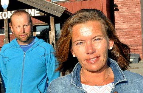Jann Erik Dalum (Ap) og Mariann Skotte (Sp) var begge ordførerkandidater i Lesja.
