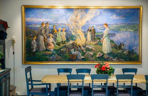 Kunst av Lars Jorde på Granheim lungesykehus i Follebu, Gausdal.