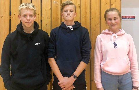 FULGTE DEBATTEN: Kristan Holt (fra venstre), Oskar Stende og Ann Elise Hov Tveter.
