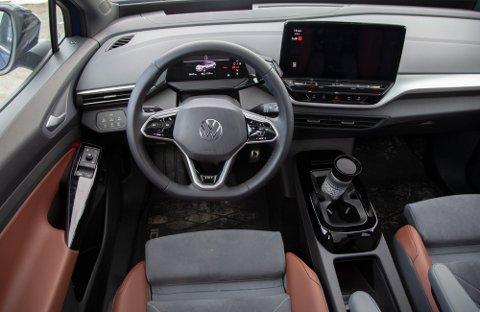 POPULÆR: Volkswagen ID. 4 var den mest registrerte nybilen i Norge i april, med 1824 biler. Det er flere enn nummer to og tre på lista til sammen (Toyota RAV4 med 890 biler og Volvo XC40 med 858 biler).