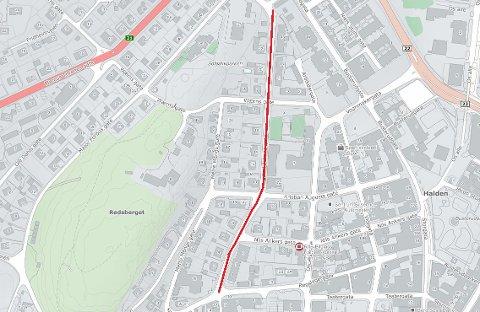 UTEN VANN: Innbyggerne i Karl Johans gate er uten vann på grunn av vannlekkasje.